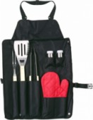 Barbecue set zwart