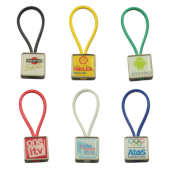 Rubberband sleutelhanger met doming tot full colour bedrukt