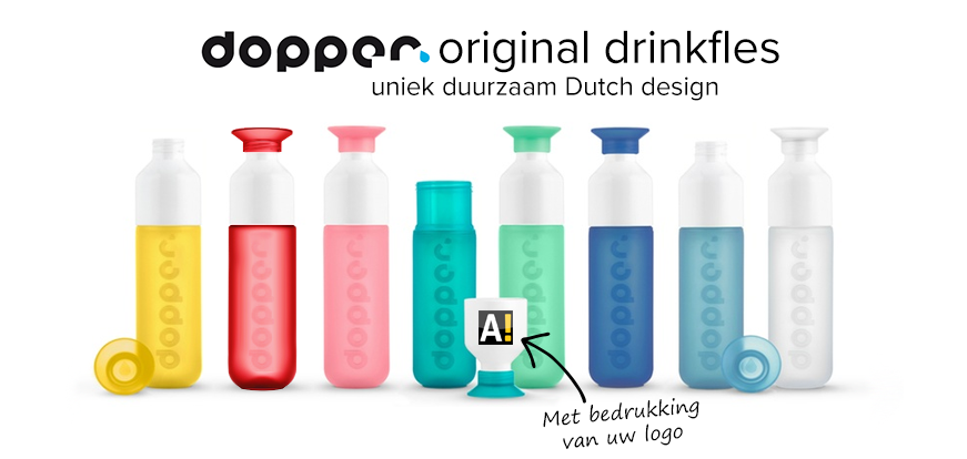 dopper drinkfles bedrukken